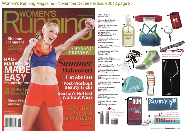Womens Running magazine medal rack product highlight