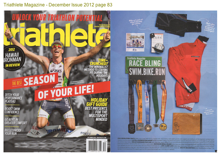Triathlete magazine triathlon medal holder